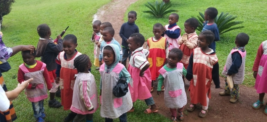 Niños de una escuela de Camerún